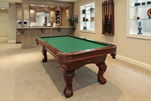 Pool table setup in Chicago