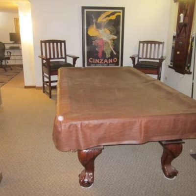American Heritage 8' Pool Table and with Extras