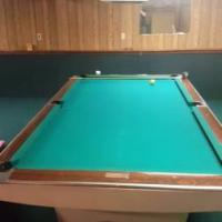 Pool Table...Brunswick 9' Gold Crown