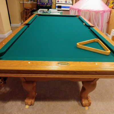 7' Bar Size American Heritage Pool Table and accessories