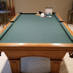 "Olhausen ""Augusta"" 8' Oak never moved original owner pool table"