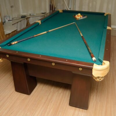 Classic antique pool table